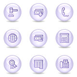 Finance web icons, glossy pearl series set 2 Stock Photography
