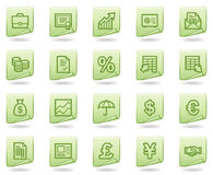 Finance web icons, green document series. Vector web icons set. Easy to edit, scale and colorize Royalty Free Stock Image
