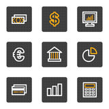 Finance web icons, grey buttons series. Vector web icons, grey buttons series Royalty Free Stock Photos