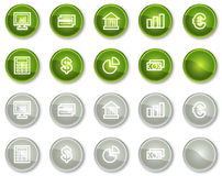 Finance web icons set 1, circle buttons series. Vector web icons set. Easy to edit, scale and colorize Stock Photography