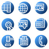 Finance web icons set 2. Vector web icons, blue circle series Royalty Free Stock Photo