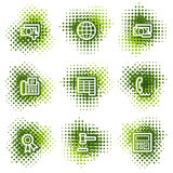 Finance web icons set 2. Web icons, green dots series Royalty Free Stock Images