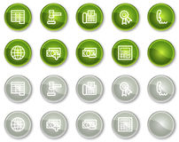 Finance web icons set 2, circle buttons series. Vector web icons set. Easy to edit, scale and colorize Stock Photo