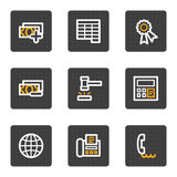 Finance web icons set 2, grey buttons series. Vector web icons, grey buttons series Royalty Free Stock Image