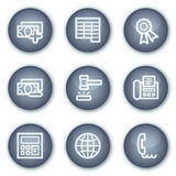 Finance web icons set 2, mineral circle buttons. Vector web icons set. Easy to edit, scale and colorize Stock Photo