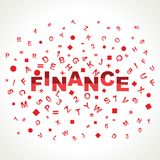 Finance word with in alphabets. Stock vector Royalty Free Stock Images