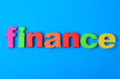 Finance word on background Royalty Free Stock Images