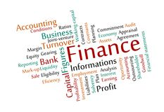 Finance Word Cloud Royalty Free Stock Photo