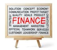 Finance Word Cloud Stock Photos