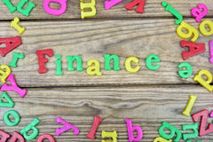 Finance word Royalty Free Stock Photo
