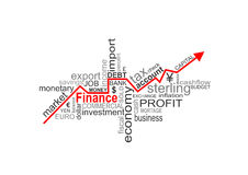 Finance words Royalty Free Stock Photo