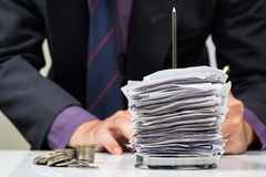 Finance work Royalty Free Stock Photo
