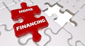 Financement à la maison L'inscription sur l'élément absent du puzzle illustration stock