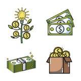 Financement crowdfunding réglé d'argent d'affaires illustration libre de droits