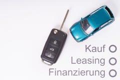 Financement d'une voiture image stock