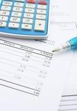 Finances à la maison Image stock