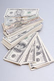 Finances. big pile of money over table royalty free stock photo
