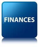 Finances blue square button Stock Photography