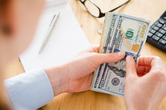 Finances and Budgeting - Accountant at Work Stock Images