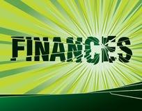 Finances cassées Image libre de droits