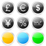 Finances circle icon set Royalty Free Stock Image