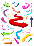 finances colorées d'affaires de flèches Images stock
