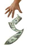 Finances d'argent de vente Images libres de droits