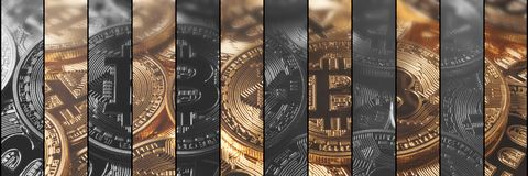 Finances de concept de Cryptocurrency et concept de technologie Bitcoin, Photographie stock