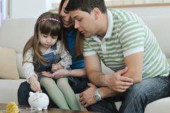 Finances de famille Photographie stock libre de droits