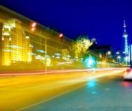 Finances de Lujiazui et horizontal urbain de zone du commerce Photos libres de droits