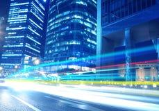 Finances de Lujiazui et horizontal urbain de zone du commerce Images libres de droits