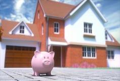 Finances de maison de tirelire image libre de droits