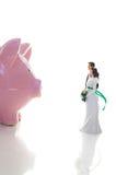 Finances de mariage photographie stock