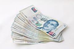 Finances de Singapour d'argent Photos stock