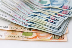 Finances de Singapour d'argent photos stock