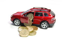 Finances de véhicule images libres de droits