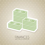 Finances design. Over dotted background vector illustration Royalty Free Stock Photos