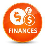 Finances (dollar sign) elegant orange round button Stock Images