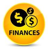 Finances (dollar sign) elegant yellow round button Royalty Free Stock Images