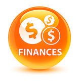 Finances (dollar sign) glassy orange round button Stock Photo
