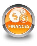 Finances (dollar sign) glossy orange round button Stock Photo