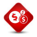 Finances dollar sign icon elegant red diamond button. Finances dollar sign icon isolated on elegant red diamond button abstract illustration Royalty Free Stock Photo