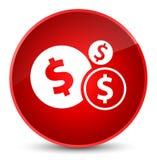 Finances dollar sign icon elegant red round button Stock Photos