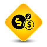 Finances dollar sign icon elegant yellow diamond button Stock Photography