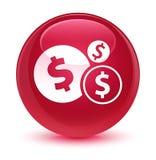Finances dollar sign icon glassy pink round button Royalty Free Stock Photo
