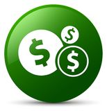 Finances dollar sign icon green round button Stock Photography