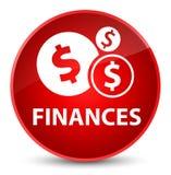 Finances (dollar sign) elegant red round button Stock Photos