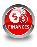 Finances (dollar sign) glossy red round button Royalty Free Stock Photography