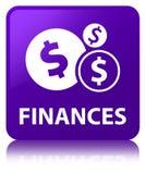Finances (dollar sign) purple square button Stock Image