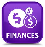 Finances (dollar sign) special purple square button Royalty Free Stock Photography